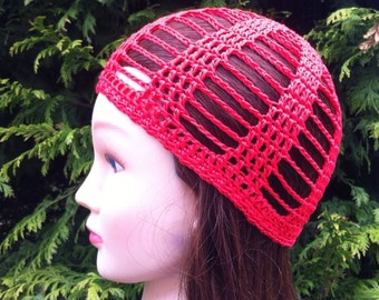 Cleo Skullcap in Bright Red - Adult Regular