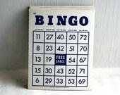 Vintage Dark Blue Bingo Cards- Package of 15