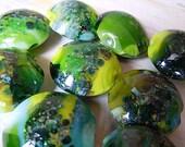Huge Lot of Nine Lampwork Lentil Beads for Designers