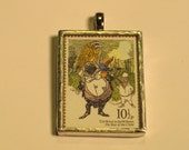 Postage Stamp Pendant - Wind in the Willows