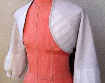 Summer in the City shrug in linen and silk organza