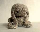 Felted Crochet Cuddle Bunny- Ivory Tweed