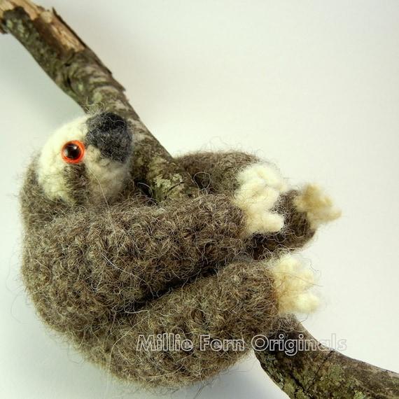 Three Toe Sloth Plush Toy Wool