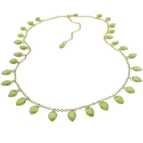 Peridot Necklace in 18k Yellow Gold