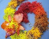 Flower of Fire's Heart handmade beadwork necklace