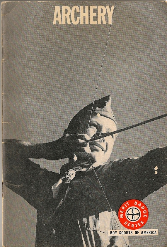 VINTAGE KIDS BOOK Merit Badge Series Archery