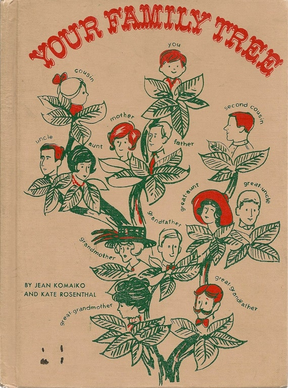 VINTAGE KIDS BOOK Your Family Tree