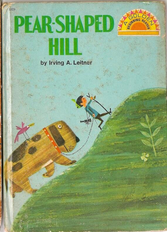 VINTAGE KIDS BOOK Pear-Shaped Hill A Golden Beginning Reader