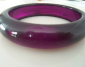 Vintage Amethyst Purple Lucite Bangle Bracelet