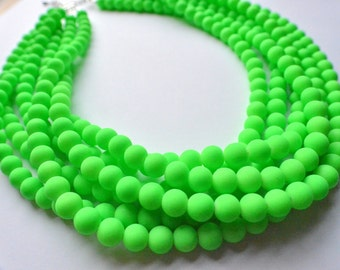 The Michelle- Green Neon Statement Necklace