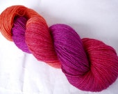 Hand painted sock yarn, wool/silk/bamboo yarn, hand painted yarn, COCKTAIL II, superwash sock yarn, hand dyed sock yarn, sock weight, 440yds