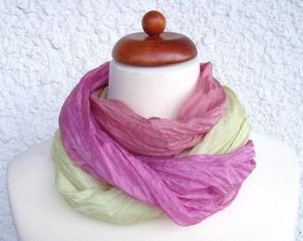 Silk scarf, hand painted silk scarf, 160x40cm (64x16inch), for nuno felting, or to wear as is