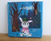 Bunny Garden Tile Coaster