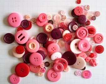 PINK/RED buttons x100g
