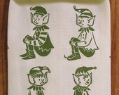 Organic all over pattern elf towel