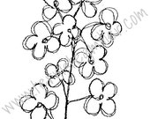 Thermofax Screen - Funky Floral Stems 3