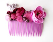 Purple Magpie Party hair comb // Magentas, lavenders and plums