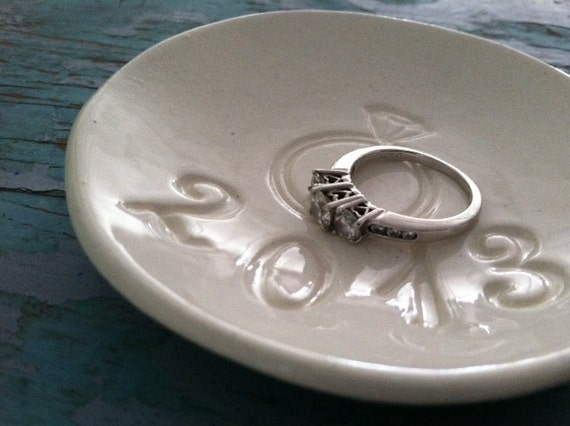 ON SALE Engagement Gift 2013 Ring Dish Jewelry Dish