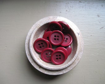 Cranberry Juice Buttons set of 12