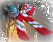 PATTERN Candy Cane Holiday Memories Crochet Scarf Instant Download