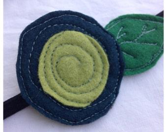 The Little Garden Bloom- Felt Headband-Brooch