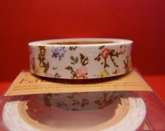 Fabric tape shabby cottage floral print