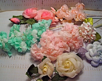 Wholesale lot vintage millinery flowers 50 years old