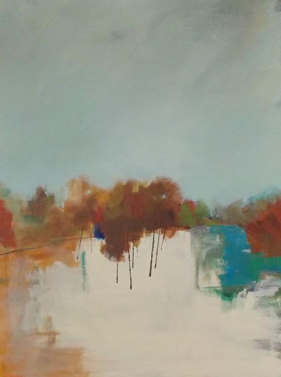 art acrylic painting original painting abstract landscape pamela munger large 30x40