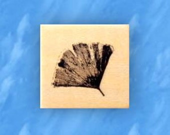 GINGKO LEAF mounted rubber stamp, Asian, Japanese, Chinese, nature, Sweet Grass Stamps No.12