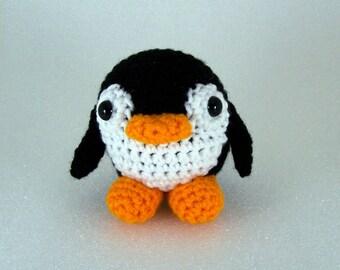 Crochet Amigurumi Stuffed Penguin Plush, Crocheted Penquin -  Silly  Penguin  MADE to ORDER