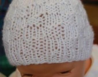 Basket Weave Baby Hat Pattern