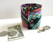 Money Cuff Wallet- Secret Stash--Paisley - hide your cash, coins, health info, jewels, house key (sm, med or large)