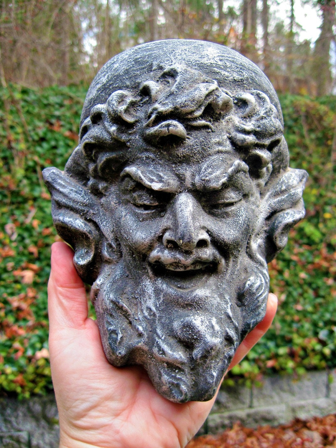 Bacchus Roman God Head Statue Wall Hanging By Shaktistudios