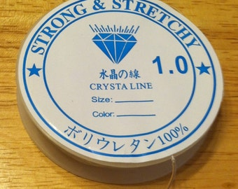 Stretchy Cord - 1mm - Clear Beading Cord - Beading Cord