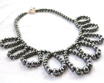 Flirty Necklace - pewter