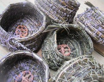 LAVENDER BASKETS  hand coiled natural scented herb