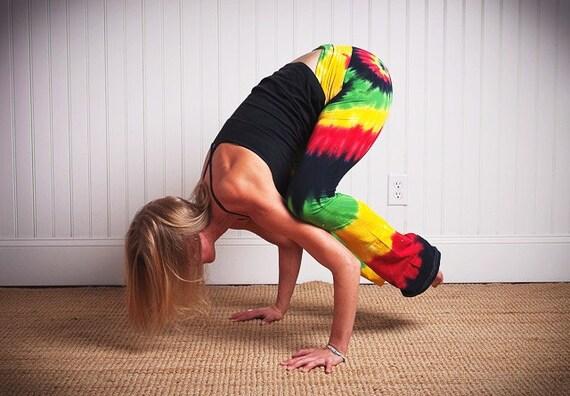 Tie Dye Bob Marley Rasta Hippie Yoga Pant By Wildflowerdyes