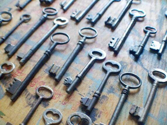 Rustic Antique Skeleton Keys - Bulk - Instant Collection //  // Spring SALE 10% Off Coupon Code SPRING10
