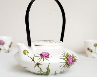 Ceramic Japanese Inspired Tea Set -  Thistles, Botanical Collection