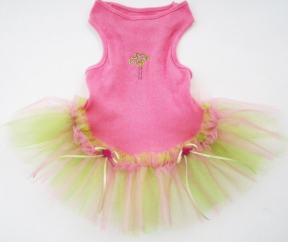 Summer Tutu Tropical Palm Tree  For Your Pup