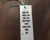 Handmade Paper Motivational Bookmark