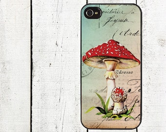 Whimsical Mushroom Phone Case for  iPhone 4 4s 5 5s 5c SE 6 6s 7  6 6s 7 Plus Galaxy s4 s5 s6 s7 Edge