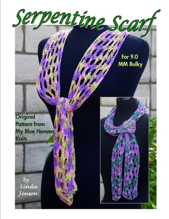 Knitting Machine Scarf Pattern : Serpentine Scarf Machine Knit Pattern