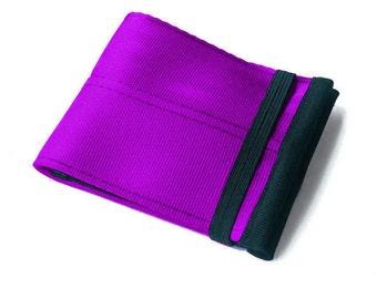 Men's Seatbelt Wallet in Limited Edition Purple - Vegan Men's Bifold Wallet