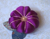 The Silk Flower Brooch -Wine- Mother's Day gift idea