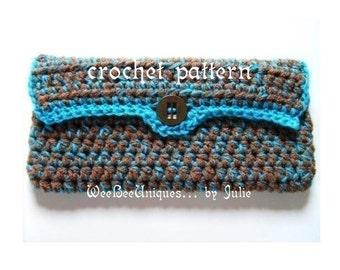 crochet pattern digital download double strand wallet