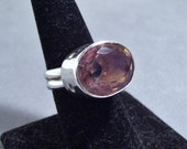 Gorgeous Fluorite Statement Ring - Modern, Unique, Bohemian, Large, Flashy, OOAK