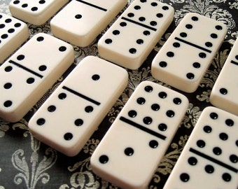 10 Big DOMINOES Vintage Inspired for Altered Art & Jewelry Design and Home Decor