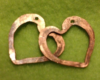 NEW CH-20mm copper heart pair