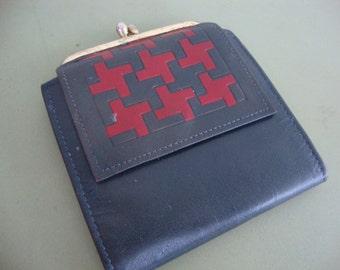 Vintage Princess Gardner Leather Wallet Change Purse